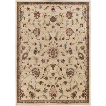 """Art of Knot Sabin Beige 7'10"""" Round Traditional Floral Area Rug"""