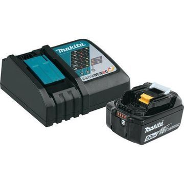 ''Makita BL1850BDC1 LXT Lithium-Ion Battery and Charger Starter Pack, 18V 5.0 Ah''