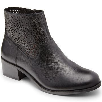 Vionic Perfed Leather Ankle Booties - Hope Luciana