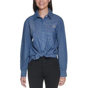 Karl Lagerfeld Paris Cotton Embellished Shirt