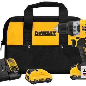 DEWALT XTREME 12-Volt Max 3/8-in Brushless Cordless Drill (Charger and 2-Batteries Included) | DCD701F2