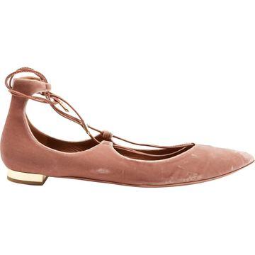 Aquazzura Pink Velvet Sandals