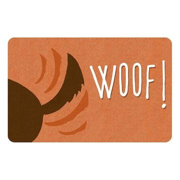 Bungalow Flooring ''Woof'' Indoor Outdoor Mat - 24'' x 36''