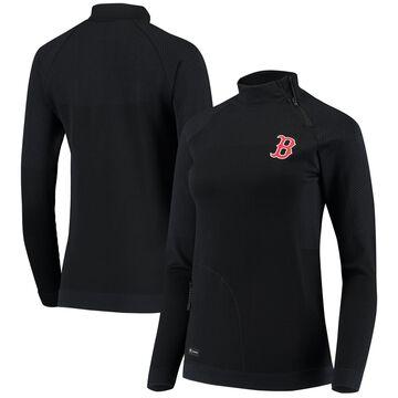 Levelwear Boston Red Sox Women's Navy Verse Asymmetrical Tri-Blend Quarter-Zip Jacket
