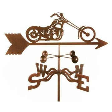 EZ Vane Chopper Motorcycle Weathervane With Deck Mount