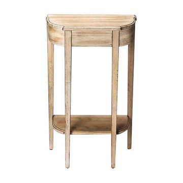 Offex Transitional Demilune Driftwood Console Table - Gray