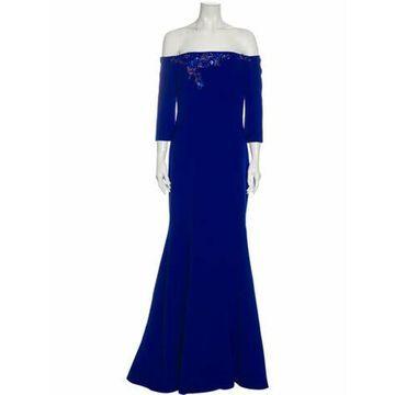 Off-The-Shoulder Long Dress w/ Tags Blue