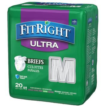 Medline FitRight Ultra Briefs Medium