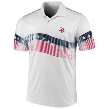 Men's Antigua White Minnesota Vikings Patriot Polo