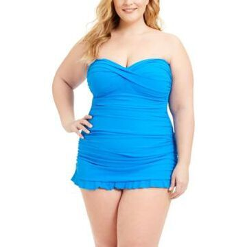Profile by Gottex Plus Tutti Frutti Strapless Swimdress Women's Swimsuit