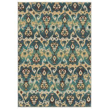 Orian Spoleto Turkman Aztec Area Rug, Blue, 5'3