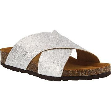 Spring Step Women's Jacintala Slide Silver Leather