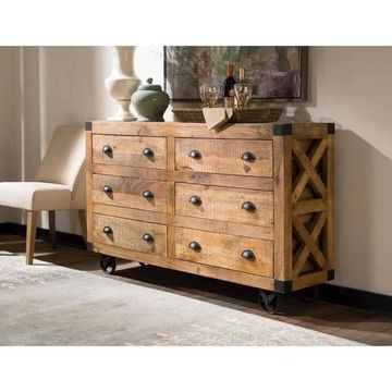 Coaster Rustic 6-drawer Accent Cabinet