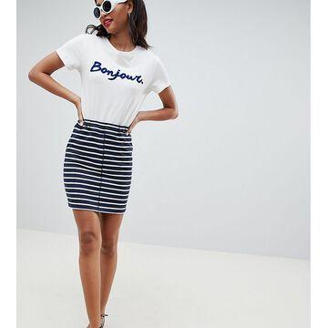 Esprit Stripe Jersey Mini Skirt