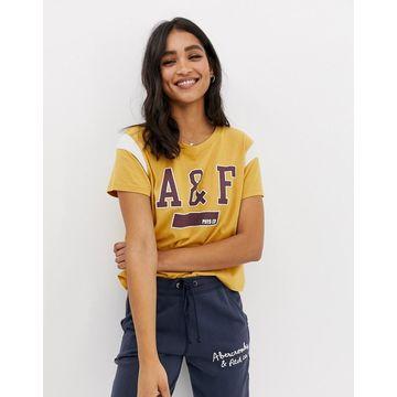 Abercrombie & Fitch logo ringer tshirt