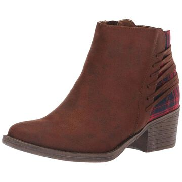 Volatile Womens Accolade Almond Toe Ankle Cowboy Boots