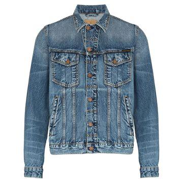 button-up denim jacket