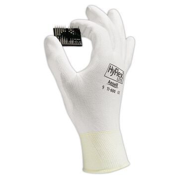 Ansell 11-600-9_WH HyFlex White Nylon Gloves, Large, Size 9, 12 Pairs