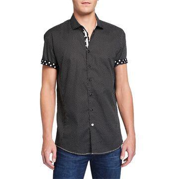 Classic-Fit Polka-Dot Short-Sleeve Sport Shirt