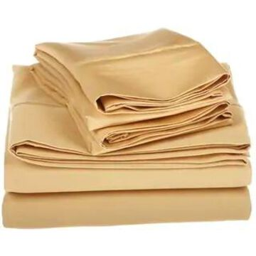 Superior Egyptian Cotton 1200 Thread Count Deep Pocket Bed Sheet Set (King - Gold)