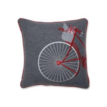 """Pillow Perfect Holiday Bicycle 16"""" Throw Pillow"""
