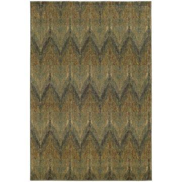 Style Haven Chevron Ikat Indoor/Outdoor Area Rug (9'10 x 12'10) - 9'10