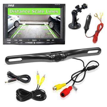 Pyle Car Screen Monitor System Rear View Backup Camera Waterproof Night Vision