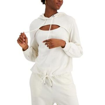 Inc International Concepts Cotton Front-Cutout Hoodie, Created for Macy's