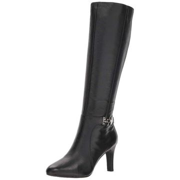 Bandolino Womens Lamari Leather Almond Toe Knee High Fashion Boots