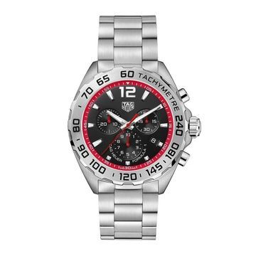 Tag Heuer Men's CAZ101Y.BA0842 'Formula 1' Chronograph Stainless Steel Watch - Black