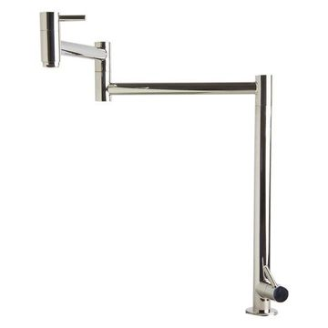 ALFI Brand Polished Stainless Steel Retractable Pot Filler Faucet