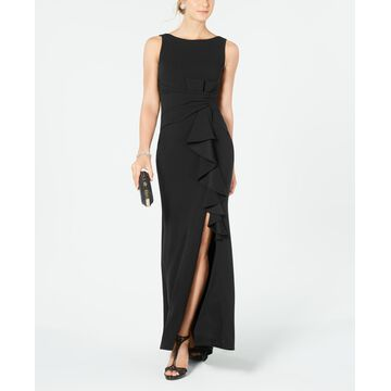 Betsy & Adam Ruffle-Detail Gown