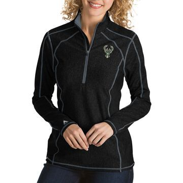 Antigua Women's Milwaukee Bucks Tempo Quarter-Zip Pullover