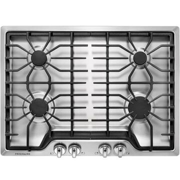 Frigidaire 30-in 4 Burners Stainless Steel Gas Cooktop   FFGC3026SS