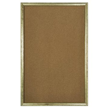 Gold Framed Wall Pinboard by Ashland