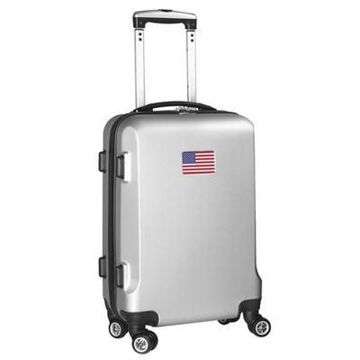 Denco Mojo USA Flag 21-Inch Hardside Spinner Carry-On Luggage in Silver