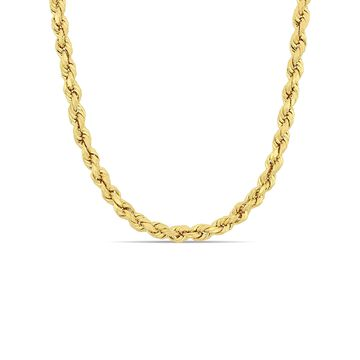 14kt Yellow Gold Men's Rope Chain Necklace