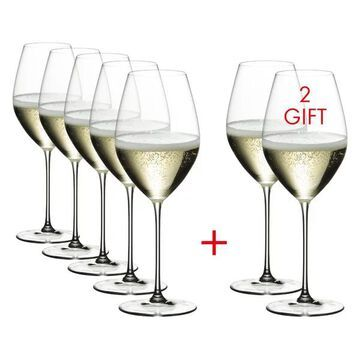 Riedel Veritas Champagne Wine Glass Set, Buy 6 Get 8