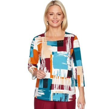 Women's Alfred Dunner Watercolor Boxes Top