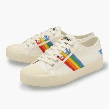 Gola Classics& Coaster rainbow-striped sneakers