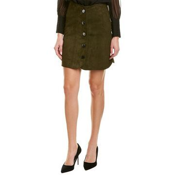 Elie Tahari Womens Leather Mini Skirt