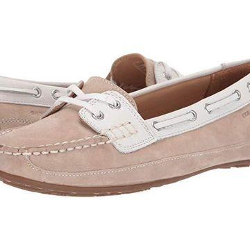 Sebago Bala (Taupe Suede/White) Women's Slip on Shoes