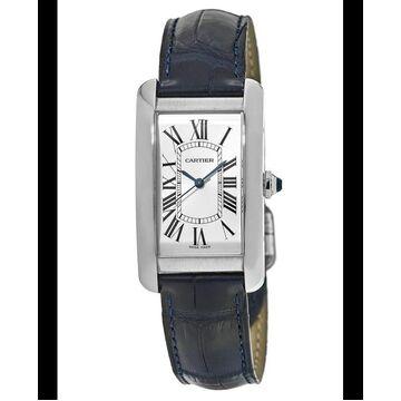 Cartier Tank Americaine Blue Leather Men's Watch WSTA0018 WSTA0018