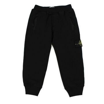 Stone Island Black Cotton Sweatpants