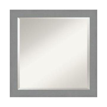 "Amanti Art Brushed Framed Bathroom Vanity Wall Mirror, 23.5"" x 23.50"""