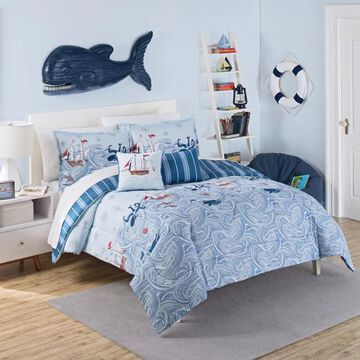 Waverly Kids Ride the Waves Reversible 3-piece Comforter Set (Full)