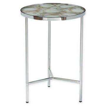Pulaski Brett Side Table in Silver