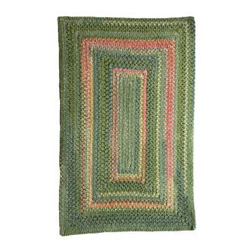 Bailey Greenhouse Concentric Rectangle Braided Rug - 24