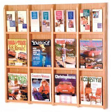 LM16-FSMH Divulge 12 Magazine & 24 Brochure Floor Display - Mahogany