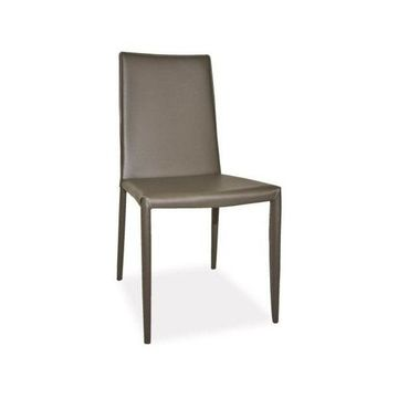 Moes Home Collection EH-1000 Lusso Dining Chair, Charcoal